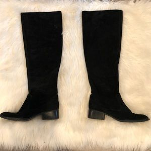 Born Crown Black Over The Knee Suede Boot